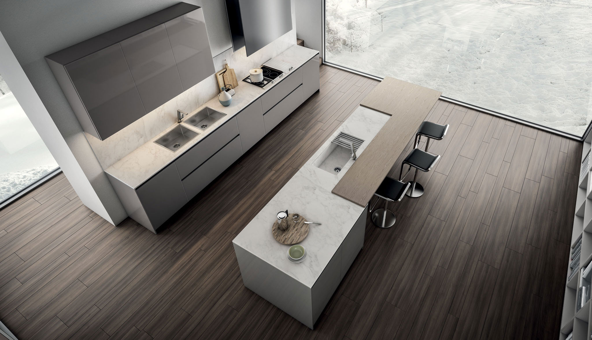 Modern contemporary gallery kitchen contempora dolce vita for Modern zion kitchen